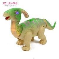 הנחת ביצת דינוזאור Parasaurolophus גודל גדול אלקטרוני הליכה דינוזאור צעצוע עם קול צעצועי ילדים חינוכיים