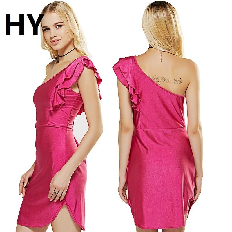 Magnífico Un Hombro Vestidos De Azul Vestido Imagen - Ideas de ...