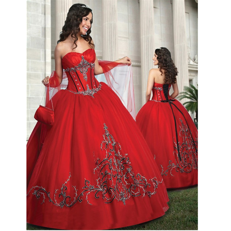Online Get Cheap Black and Red Sweet 16 Dresses -Aliexpress.com ...