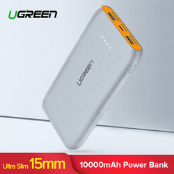 Ugreen Power Bank 10000mAh for iPhone X 8 Portable External Battery Charger for Cell Phones Xiaomi mi 7 Huawei P20 Pro Powerbank