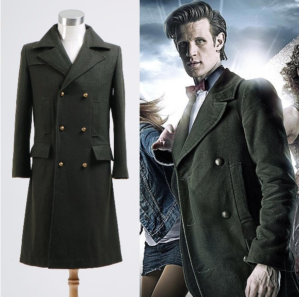 Popular Wool Coat Dark Green Long Coat-Buy Cheap Wool Coat Dark ...