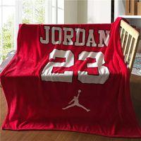 Winter Soft Fleece Basketball Jordan Flannel Blanket Bed Sheet 130x150cm Coral Fleece Blanket Throw On Sofa