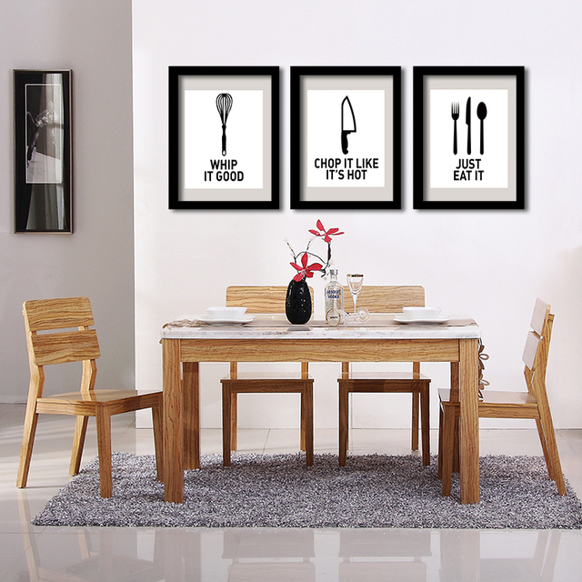 32 Painted Kitchen Wall Designs: Aliexpress.com : Buy P32 Eat Well Wall Art Print Poster