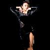 New Fashion Cutout Velvet Placketing Sexy Latin Dance One Piece Dress For Women Female Girl Ballroom