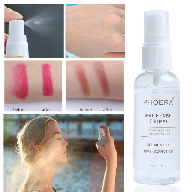 PHOERA Makeup Setting Spray Matt Bottle Moisturizing Oil-control Long Lasting Natural Makeup Fix Foundation Make Up Spray image