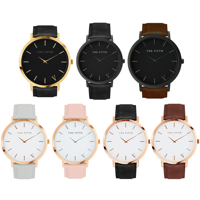 Top Fashion Simple  Classic Style Famous brand quartz watch Women casual Leather watches Men hot Clock Reloj mujeres