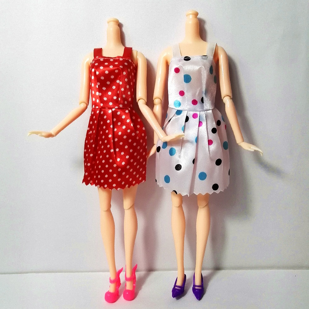 new-20-PCSset-Handmade-Party-12-Clothes-Fashion-Mixed-style-Dress-8-Pair-Accessories-Shoes-for-Barbie-Doll-Best-Gift-Girl-Toy-3