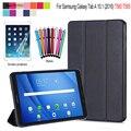Ultra Slim Magnetic Tri-fold Flip PU Leather Case Cover for Samsung Galaxy Tab A 10.1 2016 T580 T585 Sleep Wake-up + screen film