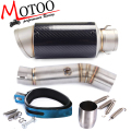 Motoo - Motorcycle Exhaust middle pipe + Muffler for HONDA CBR500 2013-2015