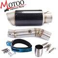 Motoo-tubo oriente + silenciador de escape da motocicleta para honda cbr500 2013-2015