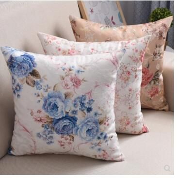 30x50/40x40/45x45/<font><b>50x50</b></font>/60x60/70x70cm pastoral flower cushion cover throw <font><b>pillowcase</b></font> decorative sofa floral pillow cover image