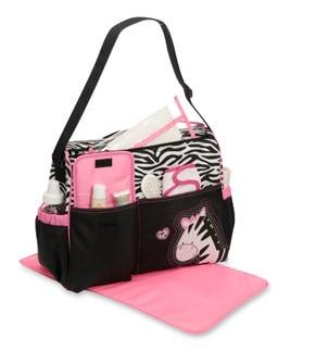 Babyboom Pink Zebra S Diaper Duffle Bag Tote Ious Organize Ny