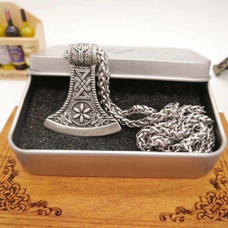 ไวกิ้งPerun Aegishjalmur Runeขวานจี้สร้อยคอผู้ชายผู้หญิงไวกิ้งเครื่องประดับวางสินค้า
