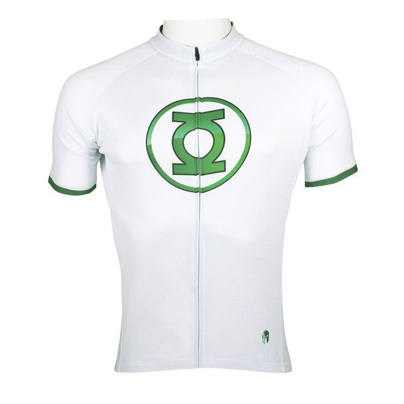 Superhero Green Lantern homme maillot blanc bike jersey xxxl grande taille mans sport jersey dans Maillots de cyclisme de Sports et loisirs