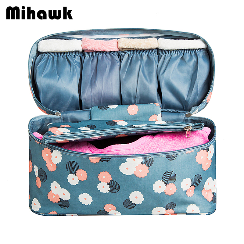 Mihawk Travel Bags For Bra Underwear Clothing Women's Fashion Toiletry Cosmetic Storage Bag Organizer Pouch Accessories Product mihawk women s fashion animal portable handbags shoulder pouch messenger pouch storage belongings organizer accessories products
