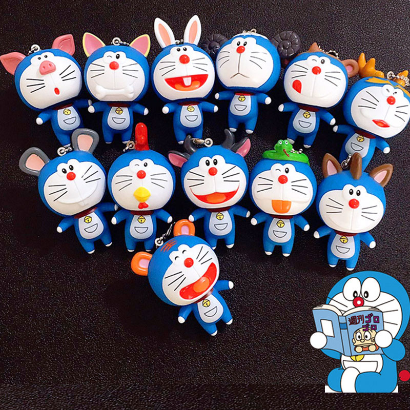 Anime Cartoon Cute Doraemon Mini PVC Figure Model Dolls Child Toys Christmas Women Gifts