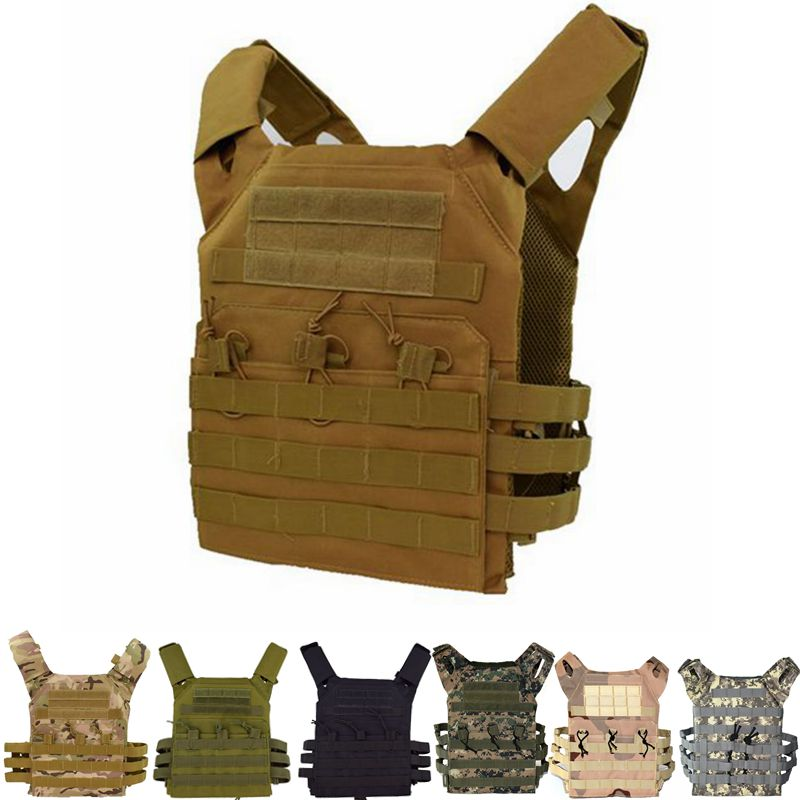 Tactical Military Vest JPC Plate Carrier Paintball Body Armor Airsoft 2 Color