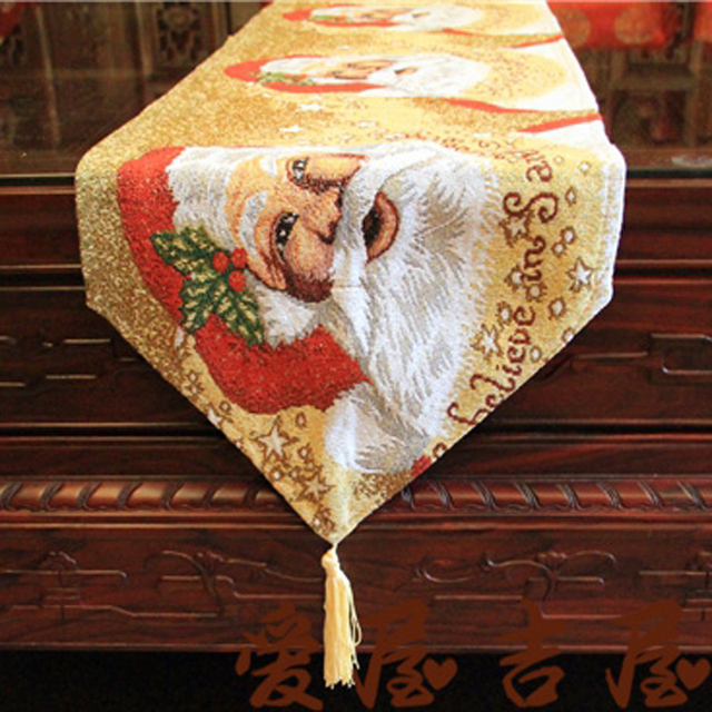 New Arrival Fashion European Style 33 X 180 Cm Vintage And Elegant Christmas Table Runner