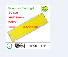 NEW DC 12V 200W 600led chip Strip FLIP COB LED Module panel light L256X78.6MM 20000LM LED BAR LIGHT LED TUBE car light source