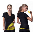 Mulheres Neoprene Emagrecimento Shapers quentes Corpo Queima de Gordura T-Shirt Tops Camisa de Fitness Shapers Do Corpo Das Mulheres