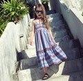 2016 New Arrival Girls Beach Dresses Summer Cute Printed Casual Fashion A1084