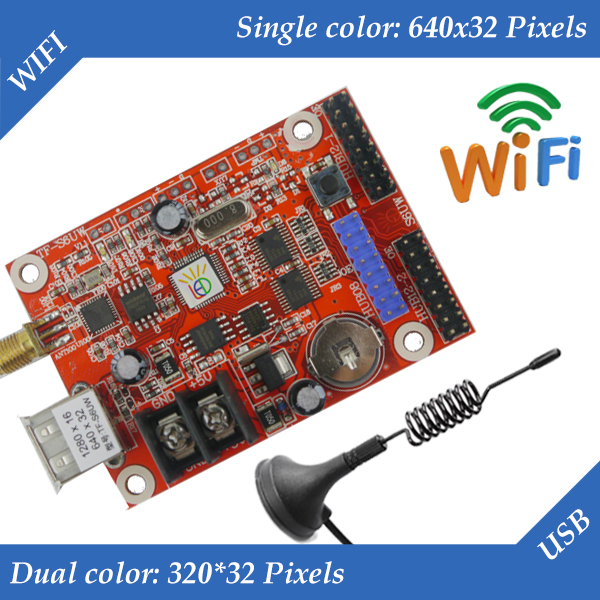 TF-S6UW LED Display Control Card, WIFI + USB Communication Controller