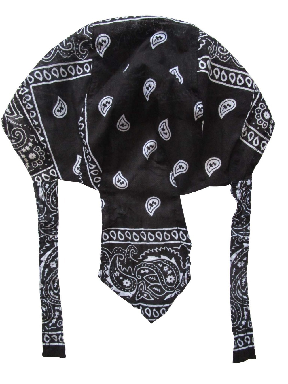 2018 New Men Black Red Paisley Durag Bandanna  Du Rag Scarf Head Rap Tie Down Band Biker Cap