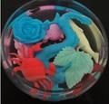 20pcs/lot Colorflul dinosaur&Animal&&Goldfish& Rose Shape Growing Up Toys Kids' Favor Toys Aquarium Home Decor