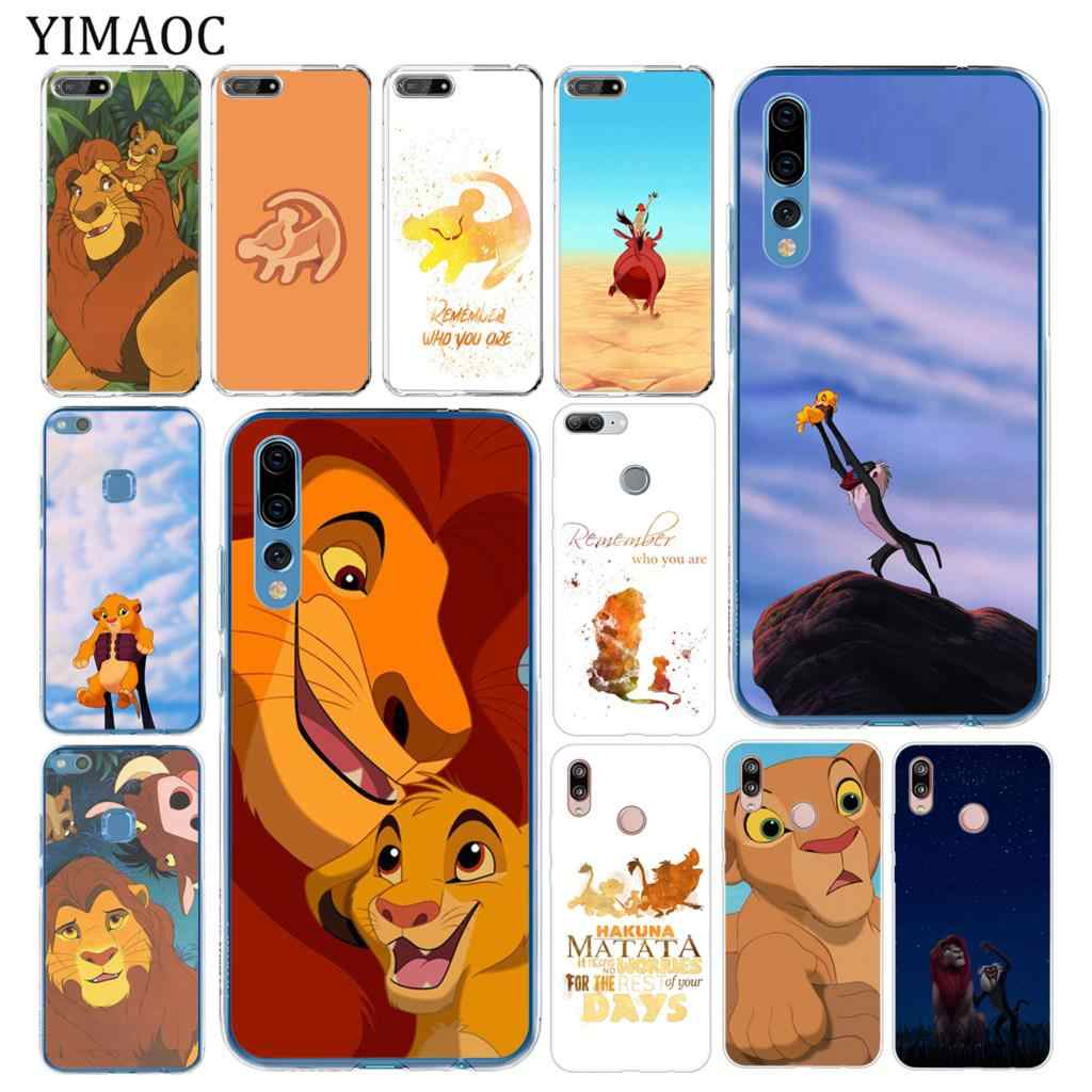 YIMAOC The Lion King Soft Tpu Silicone Phone Case for Huawei P30 P20 Pro P10 P9 P8 Lite 2015 2016 2017 P smart Z 2019 Cover