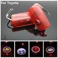 2X LED Luces de Puerta de Coche Especial Para Toyota Corolla EZ Prius TUNDRA Previa Alphard Sienna 3D Logo Proyector Láser de Advertencia lámpara