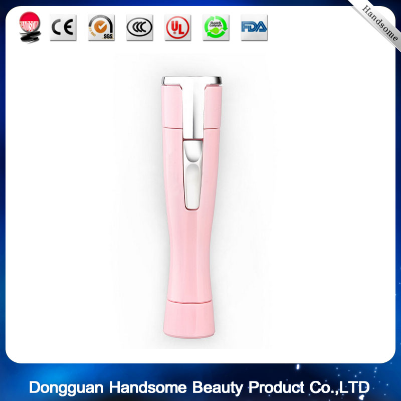 Women's Pink Portable battery Shaver Hair Removal Machine Mini Epilator Lady Beauty Tools the most national magic showliss pro blu ray thermal hair removal device beauty tools pink white us standard