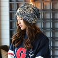The explosion of Korean female leopard letter scarf hat, Ms. turtleneck hat, fashion seasons set head cap, new fashion women hat