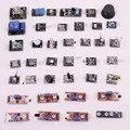 Com caixa de Varejo 37 EM 1 CAIXA de Kits De Sensores Para Arduino Frete Grátis (Funciona com Oficiais Arduino Placas)