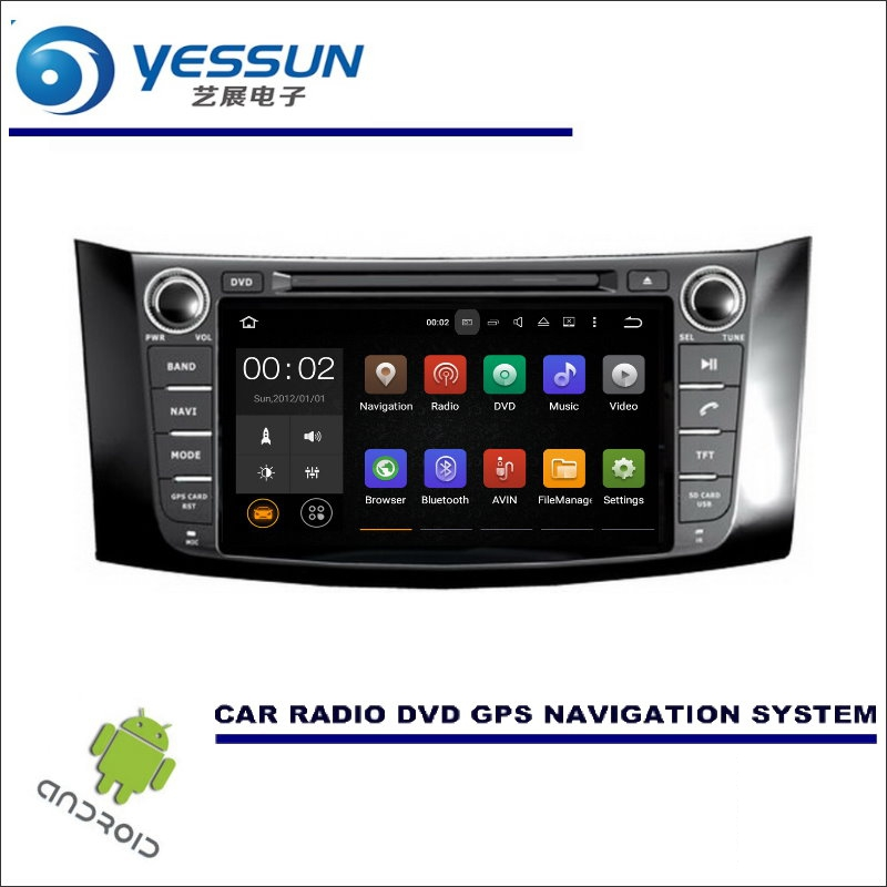 YESSUN For Nissan Sylphy / Pulsar Sentra CD DVD GPS Player Navi Radio Stereo HD Screen Car Multimedia Navigation Wince / Android цена