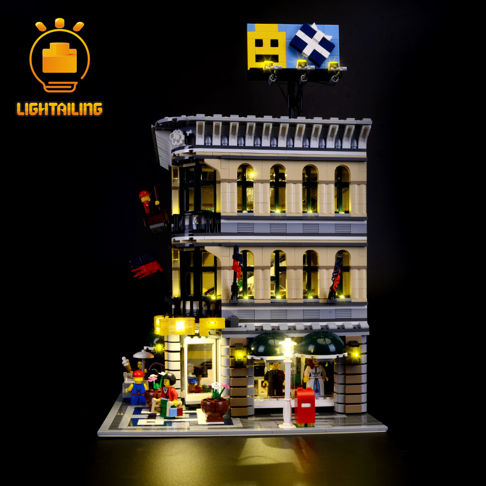 LIGHTAILING Led Light Up Kit For Grand Emporium Model Building Block Toys Light Compatible With Famous Brand 10211 Lighting Set