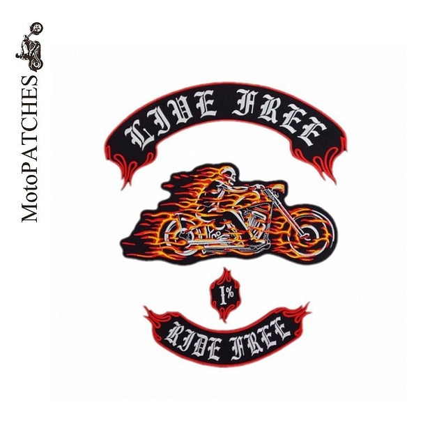 Custom Mix Embroidered Made Iron On Patches Motorcycle Biker Vest Patches  For Clothing Hat Garment Logo Back Patches 2015 928921b5b024