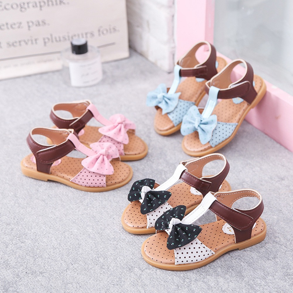 Baby Girls Butterfly Cross Strap Strappy Gladiator Flat Sandal Summer Crib Shoes