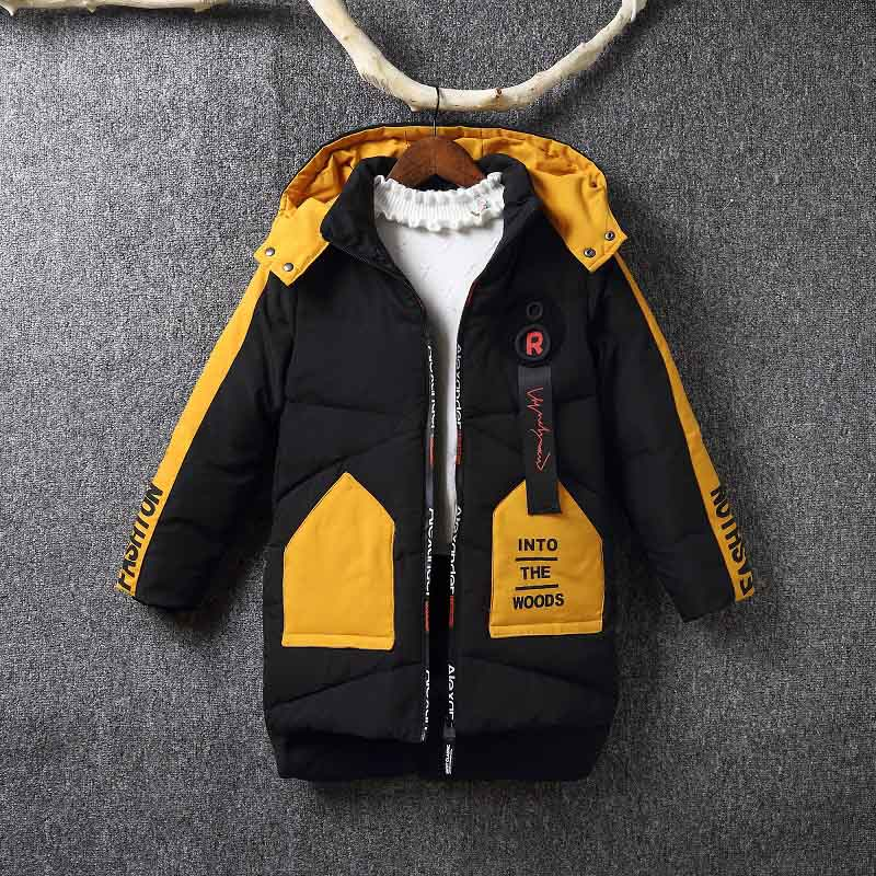 cc8597624 Children Winter Down Jacket 2018 Boys Duck Coat Hooded Outerwear Clothing  Kids Warm Parkas Coats For 6-12 Years