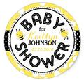 1.5inch Bumble Bee Honeycomb Baby Shower Label Classic Round Sticker