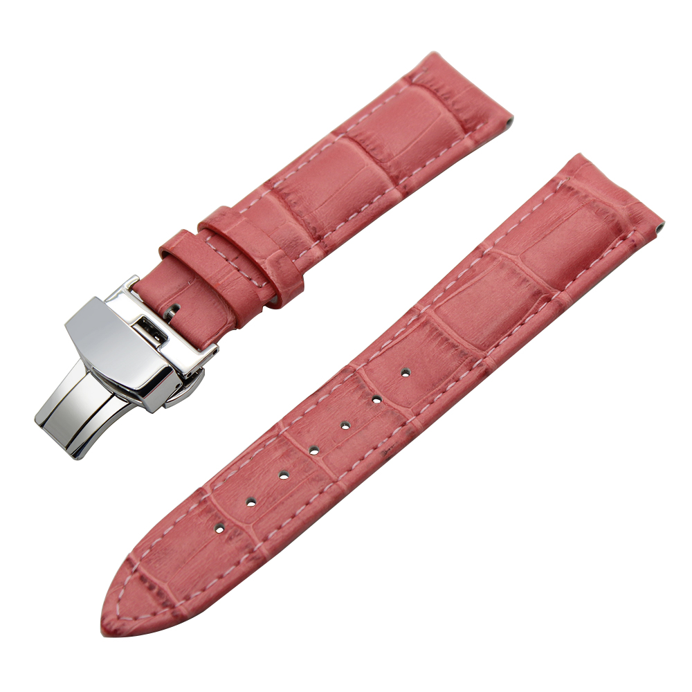 Image 5 - 14/16/18/19/20/21/22/23/24mm Genuine Leather Watch Band for Frederique Constant Stainless Steel Buckle Strap Wrist Belt Bracelet-in Watchbands from Watches