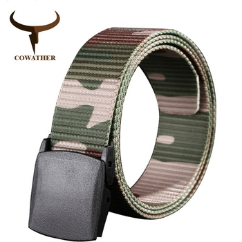 COWATHER 110 130 150 170cm long big size new nylon material mens belt military outdoor tactical male jeans belts for men luxury 1