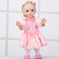 2017 Vinyl Top Fashion 42cm 18 Inch Russiawalking And Talking Cute For Intelligent Dialogue Girl Doll