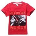 2016 дети детская одежда мальчики мода звездные войны футболка с коротким рукавом тис 10 шт./лот 2 конструкций 8177