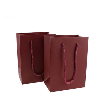 10 Pcs High Quality Kraft Paper Bag With Handles Elegant Dark Red Packaging Bags For Wedding Birthday Party Jewelry Gift Bags 100 pcs paper gift bags with handles for wedding birthday party favors small bag present cosmetics jewelry kraft paper bag candy