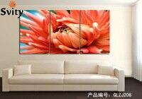 חתונה סיטונאית הדפסת בד ציור פרח הדפסת HD מודולרי קיר קישוט לסלון תמונה ממוסגרת לא