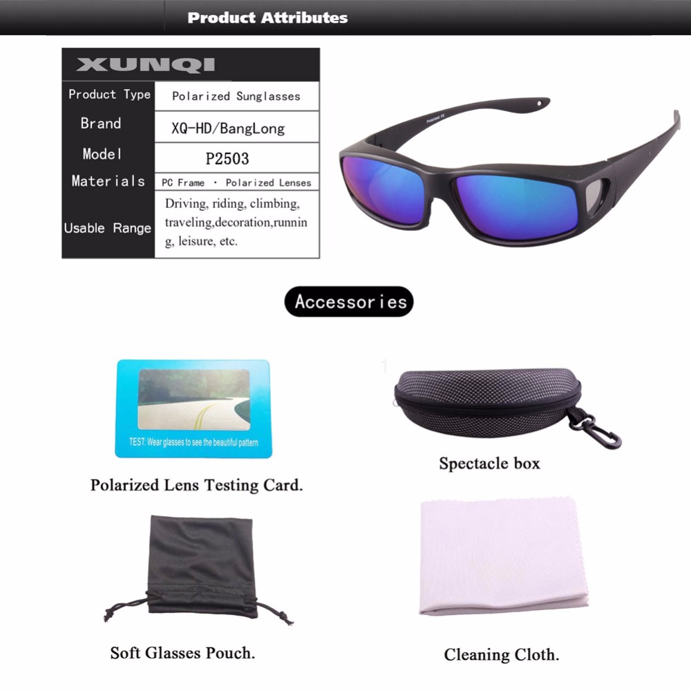 c9c952d773 Wear Over Prescription Glasses For Woman Polarized Lens Covers type fishing  Sunglasses-in Fishing Eyewear from Sports   Entertainment on Aliexpress.com  ...