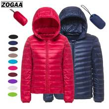 ZOGAA Winter Men and Women Fashion Lightweight Hooded Quilted Puffer Down Jacket Filling with silk floss blouses autumn winter