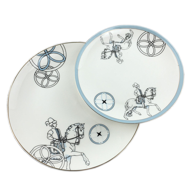 Knight Spirit Blue Simple Tableware Plate Mediterranean Table Soft Decoration Accessories Horse and Man Luxury Dish  sc 1 st  AliExpress.com & Knight Spirit Blue Simple Tableware Plate Mediterranean Table Soft ...