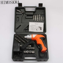 HIMOSKWA 4.8v Electric Screwdriver Lithium Battery Rechargeable Multi-function cordless Electric Drill