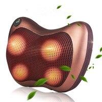 CAMMUO Neck Massager Car Cervical Shiatsu Massage Neck Back Waist Body Electric Multifunctional Massage Pillow Cushion